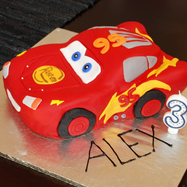 Lightning McQueen 3D Cake Baby Makes Six