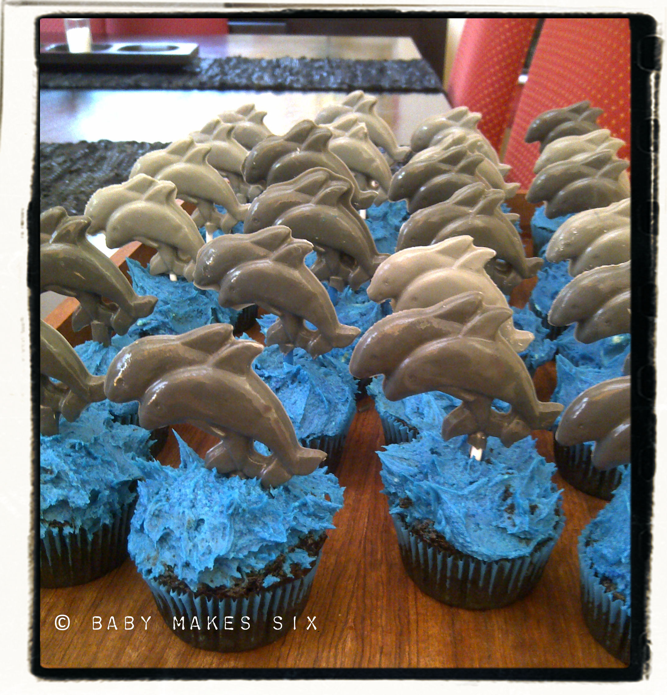 Dolphin Cupcakes Baby Makes Six